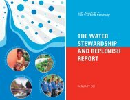 the water stewardship and replenish report - CEO Water Mandate