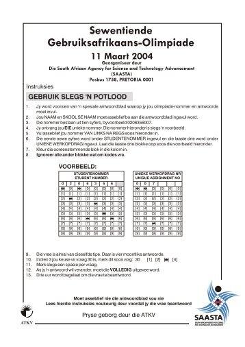 Gebruiks Afrikaans 2003.cdr - saasta