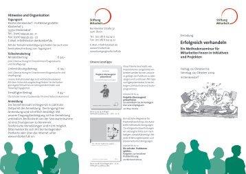 Erfolgreich verhandeln - Stiftung Mitarbeit