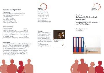Erfolgreich Fördermittel einwerben - Stiftung Mitarbeit