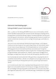 Meldung als PDF - Stiftung Mitarbeit