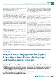 Integration und Engagement bei jugend - Universität Duisburg-Essen