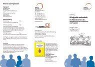 Seminarflyer »Erfolgreich verhandeln« - Stiftung Mitarbeit