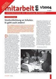 mitarbeiten 2004/01 - Stiftung Mitarbeit