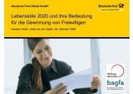 Lebensstile 2020 und ihre Bedeutung für die Gewinnung von ...