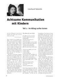 Leseprobe des Artikels von Lienhard Valentin - Mit Kindern wachsen