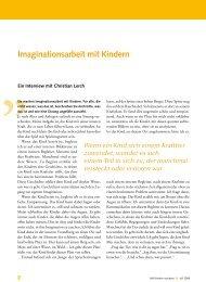 Leseprobe: Imaginationsarbeit mit Kindern - Mit Kindern wachsen