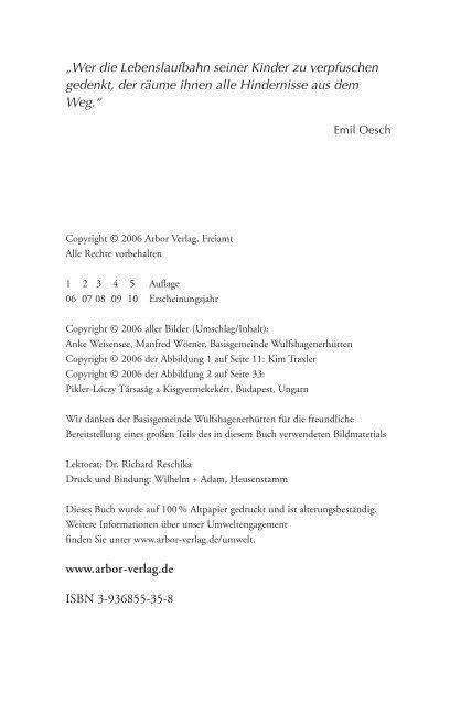 Das Bewegungskonzept Elfriede Hengstenbergs - Arbor Verlag
