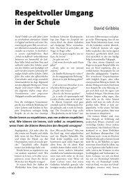 Leseprobe des Artikels von David Gribble - Mit Kindern wachsen