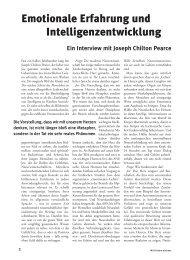 Leseprobe des Artikels von Joseph Ch. Pearce - Mit Kindern wachsen