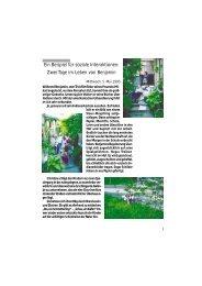 Ein Beispiel für soziale Interaktionen: Zwei Tage im ... - Arbor Verlag