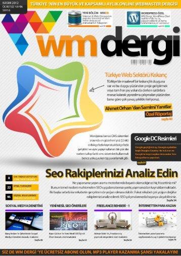 WM Dergi - 6.SAYI