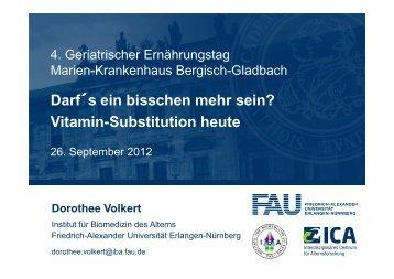 Vitamin-Substitution - Marien-Krankenhaus Bergisch Gladbach