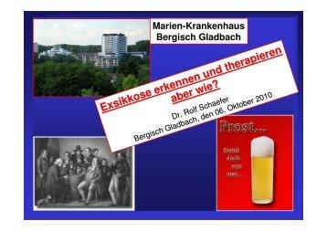 Exsikkose - Marien-Krankenhaus Bergisch Gladbach