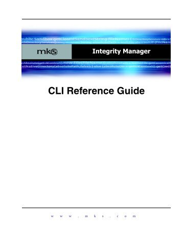 MKS Integrity Manager CLI Reference
