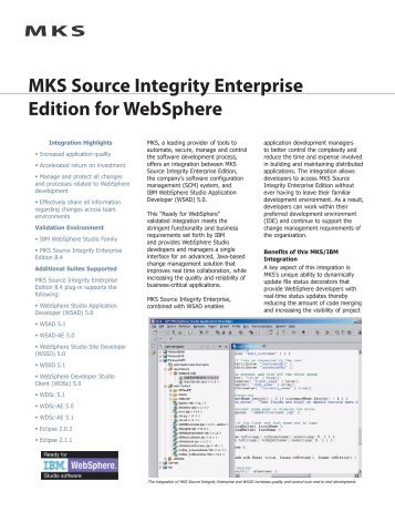 MKS Source Integrity Enterprise Edition for WebSphere
