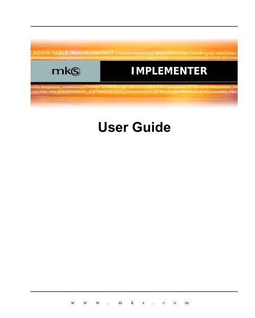 MKS Implementer User Guide
