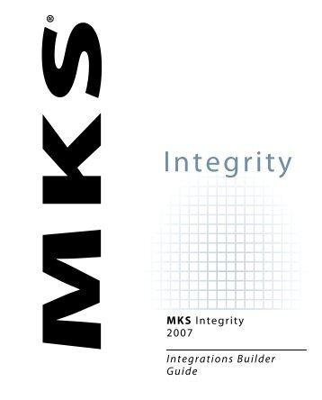 MKS Integrity 2007 Integrations Builder Guide