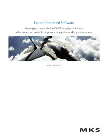 Export Controlled Software - Mks.com