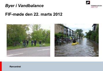 Status FIF-møde BiV 22032012 - Byer i vandbalance