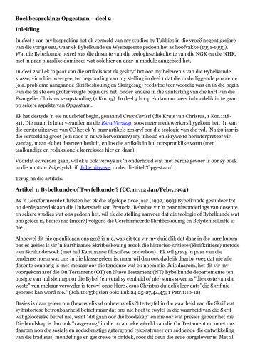deel 2 Inleiding In deel 1 van my - Pro Regno
