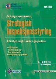 740109 Strategisk insp.indd - Tekniske Foreningers Servicekontor AS
