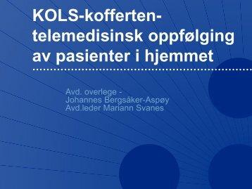 Kols-koffert gir økt trygghet ved Johannes Bergsåker-Aspøy ...