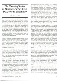 The History of Iodine in Medicine Part I: From Discovery to Essentiality