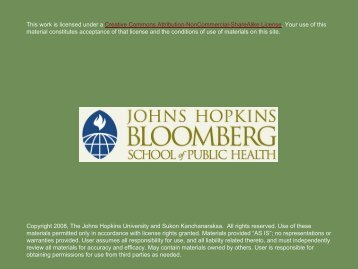 Epidemiologic Investigations - jhsph ocw - Johns Hopkins ...