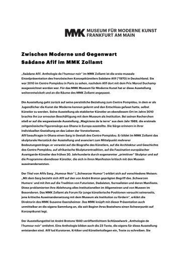 Download pdf - Museum für Moderne Kunst