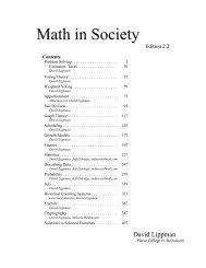 Math in Society - OpenTextBookStore