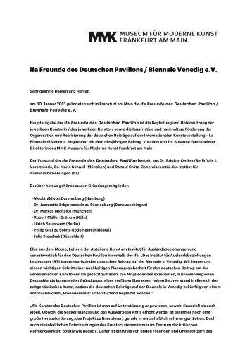 ifa Freunde des Deutschen Pavillons / Biennale Venedig e.V.