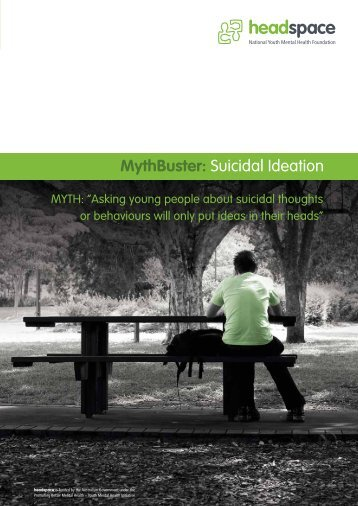 MythBuster: Suicidal Ideation