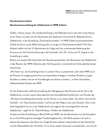 Download PDF (deutsch) - Museum für Moderne Kunst