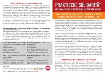 Flyer Schüler_innenaktion - Mobile Beratung für Opfer rechter Gewalt