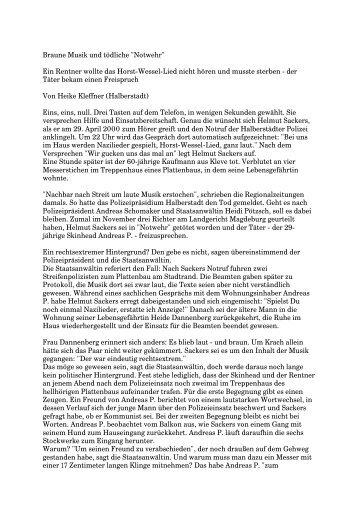 """Braune Musik und tödliche """"Notwehr"""" - Mobile Beratung für Opfer ..."""