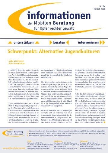 informationen Nr. 24 / Herst 2008 - Mobile Beratung für Opfer rechter ...