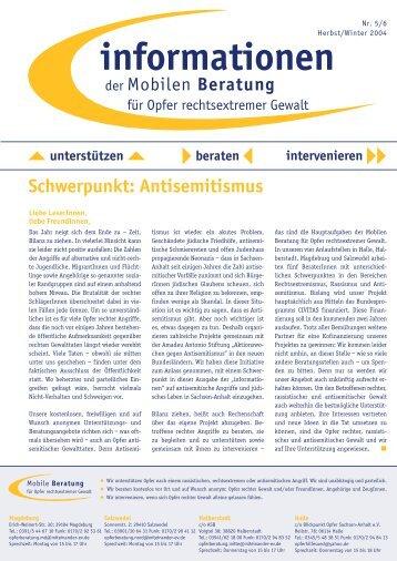 informationen Nr. 5 & 6 / Herbst,Winter 2004 - Mobile Beratung für ...