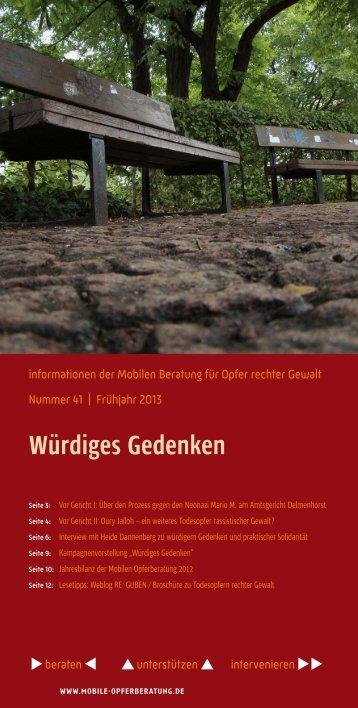 informationen - Mobile Beratung für Opfer rechter Gewalt