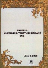 cuprins - Muzeul Literaturii Române Iaşi