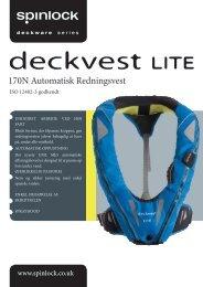 Spinlock Deckvest LITE - brugsanvisning - Columbus Marine