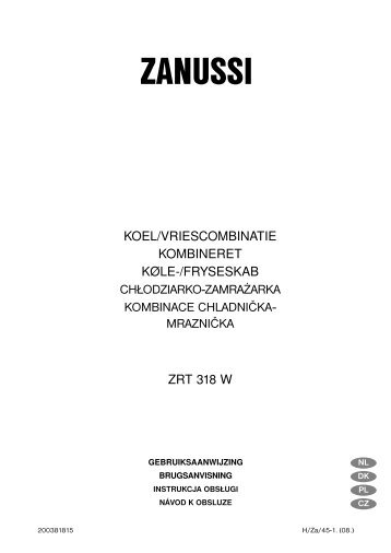 ZANUSSI - Electrolux-ui.com