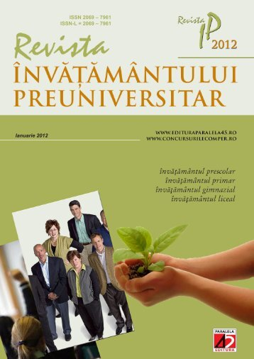 ISSN 2069 – 7961 ISSN-L = 2069 – 7961 Ianuarie 2012