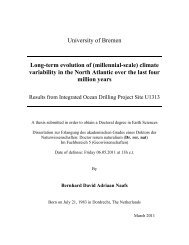 (millennial-scale) climate variability in the North Atlantic over ... - E-LIB