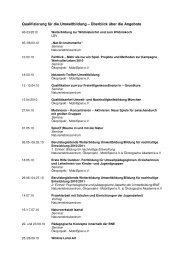 Qualifizierung für die Umweltbildung – Überblick ... - Mobilspiel eV