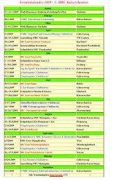 Terminkalender 2009 - 1. Modellbootclub Kaiserslautern