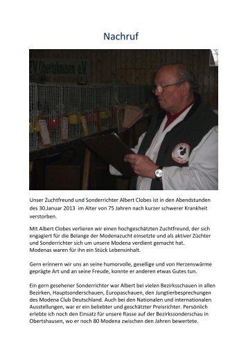 Nachruf - beim Modena-Club Deutschland