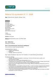 Referat frå styremøtet 21.11. 2008 - IT-forum Sogn og Fjordane
