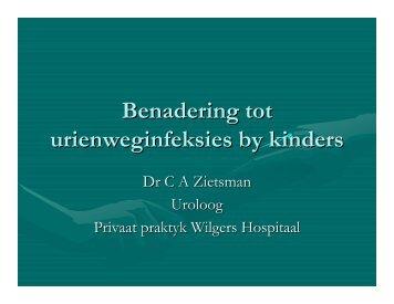 Benadering tot urienweginfeksies by kinders