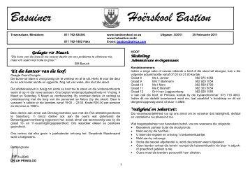 Basuiner 03 25 Februarie - Hoërskool Bastion
